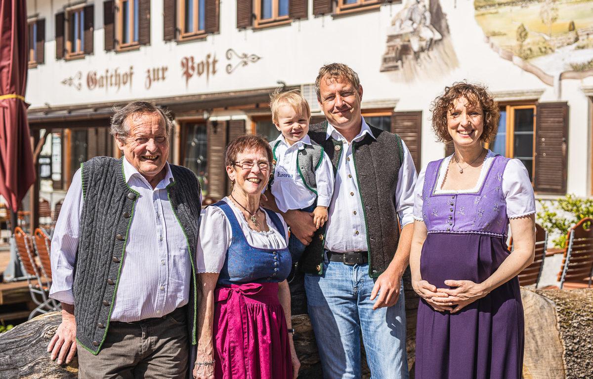 Gasthof zur Post Familie Burger Sindelsdorf
